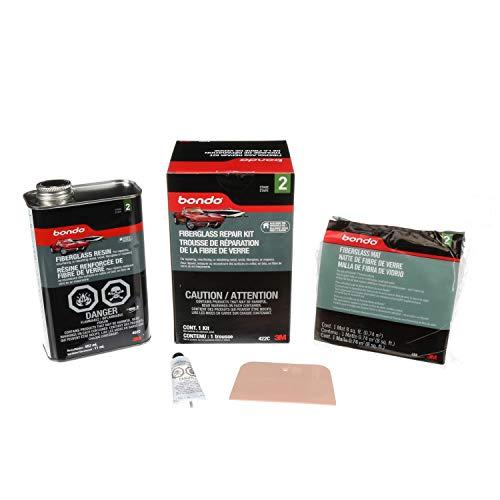Bondo Fiberglass Resin Repair Kit, 00422, 0.9 Quart