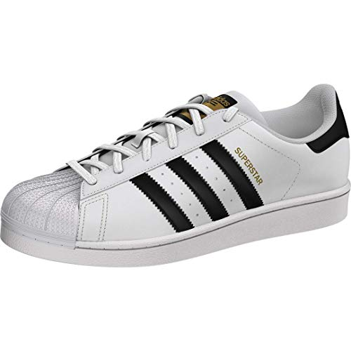 adidas Originals womens Superstar Sneaker, White/Black/White, 9.5 US