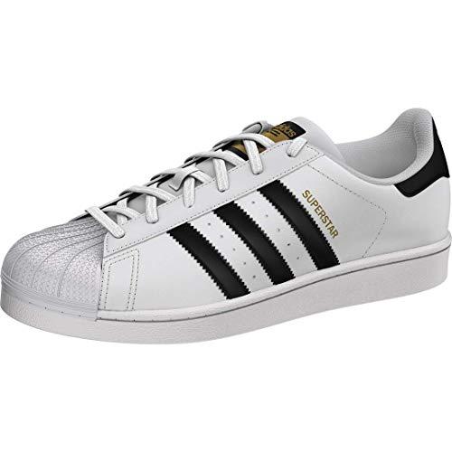 adidas Originals womens Superstar Sneaker, White/Black/White, 8.5 US
