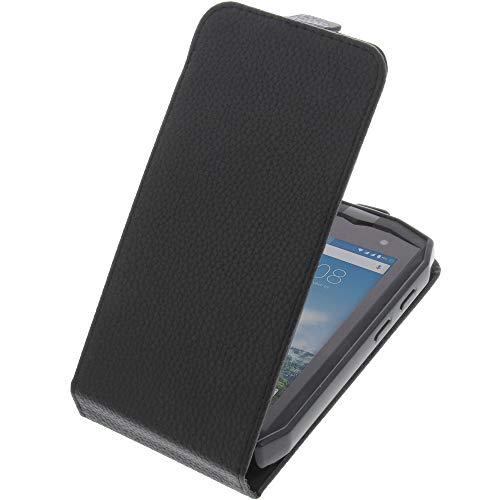 foto-kontor Tasche für CrossCall Trekker M1 Smartphone Flipstyle Schutz Hülle schwarz