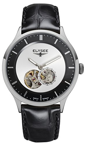 Elysee, 15101, unisex, volwassene analoog automatisch horloge met lederen armband
