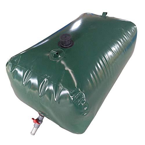 Contenedor de agua de almacenamiento de agua de gran capacidad para exteriores, tanque de almacenamiento de agua flexible con grifo, urgencia portátil de emergencia resistente a la sequía de riego de