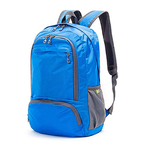 Mochila ligera, 21 L, impermeable, viajes, senderismo, mochila de viaje (color: azul-I)
