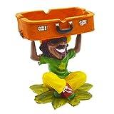 Rockin Rasta Figurine Ashtray - Jamaican Man Smoking Joint Ashtray Tray - Leaf Weed Hemp Pot Cannabis Party Accessory...
