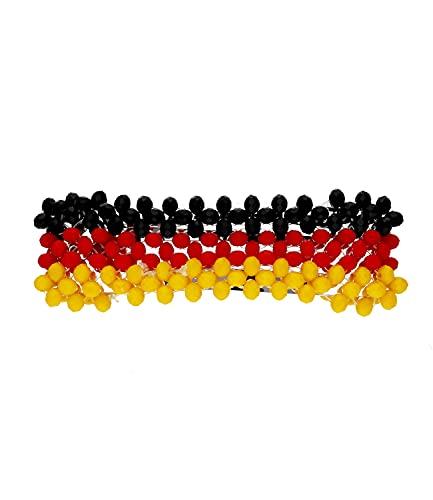 SIX Deutschland Haarspange, Fanartikel, Accessoire zur Europmeisterschaft, Nationalelf, Rot Schwarz Gold (04-808)