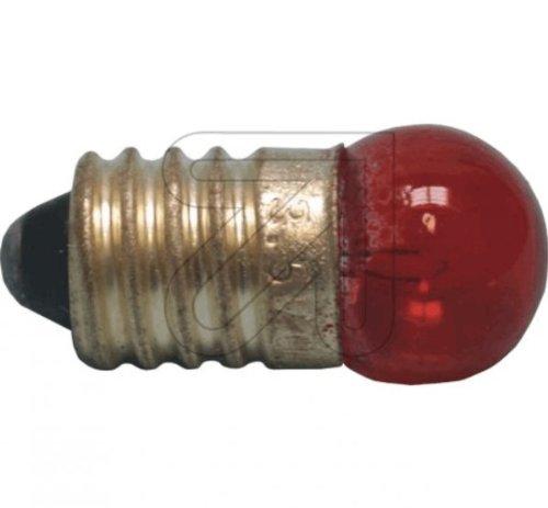 Globe Warehouse 10 Stück Kugellampe E10 rot 3,5V 0,2 A Glühlampe Glühbirne