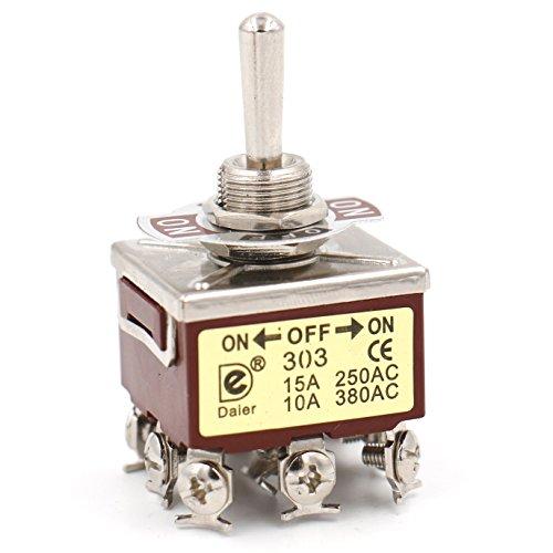 Heschen en métal Interrupteur à bascule 3pdt Maintenue on/off/on 3 position 15 A 250 VAC 10 A 380 Vac CE