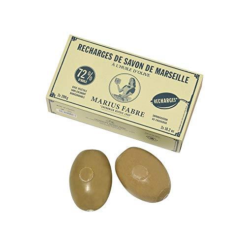 Savonnerie & Cie - Savon Rotatif à L'Huile D'Olive 290 G X 2 Recharges Nature