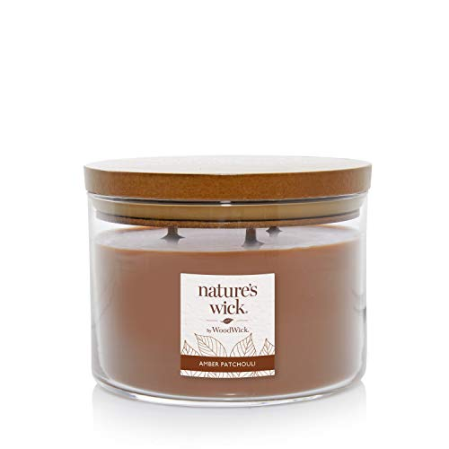 Nature's Wick Amber Patchouli Candle, 18 oz