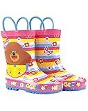 Vanilla Underground Hey Duggee Girls Wellies Children's Wellington Carry Handle Snow Boots Pink