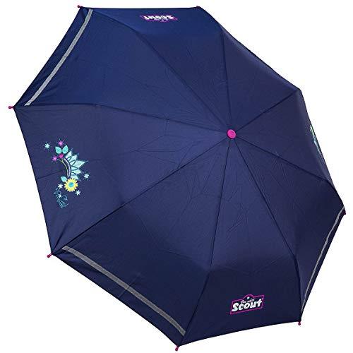 Scout Kinder Regenschirm Taschenschirm Schultaschenschirm mit Reflektorstreifen extra leicht Cool Princess