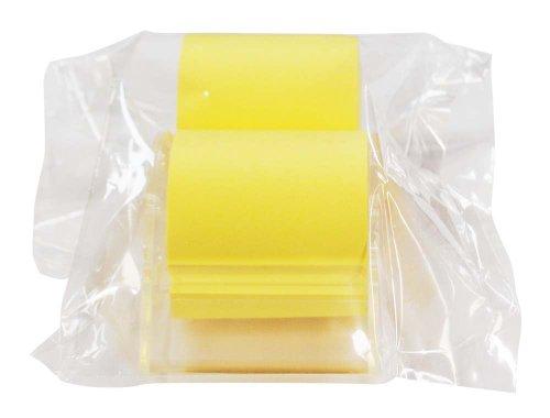 シノコマ ふせん ロール付箋紙セット 黄 50mm幅 リフィル付き RF-50Y