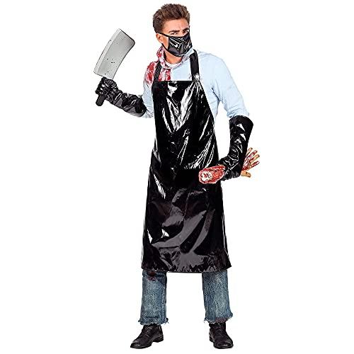 Widmann 01522 Kostüm Horror Fleischer, Herren, Schwarz, L/XL