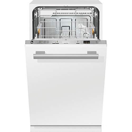 Lavavajillas de integración total modelo G 4680 SCVi Active con preselección de la hora de inicio y bandeja portacubiertos, A+, color blanco, 57 x 44,8 x 80,5 cm (referencia: Miele 21468062IB)