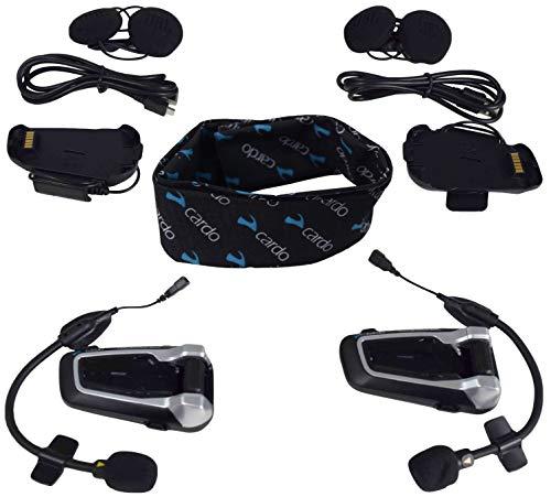 Cardo Scala Rider packtalk Slim con Natural Voice Motorcycle Sistema de comunicaci/ón y entretenimiento Dual Pack conecta de 2/A 15/Riders