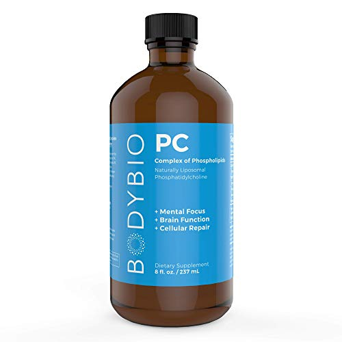 BodyBio - PC Phosphatidylcholine, Liposomal Phospholipid Complex for Cell Health - Enhance Brain Function, Focus, Memory & Clarity - Microbiome Support - Science & Research Backed - 8 oz -  E-Lyte, SP500