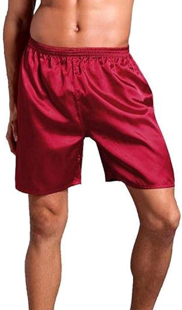 Men's Fashionable Satin Ranking TOP11 Pajamas Pyjamas Pants Casual Lounge Short Male