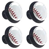 4 個のキャビネット ノブ 引き出しドレッサー ハンドル野球スポーツ部屋、キッチン、オフィス、バスルーム用