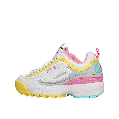 Fila 1010604-92x, Zapatillas para Mujer, Blanco, 37 EU