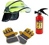KSS Kaufen-schenken-Spielen Feuerwehr Mega Set 3-teilig ! Helm, Handschuhe & Wasserspritze im...