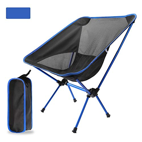 Sedia da campeggio pieghevole ultraleggera per esterni picnic pieghevole escursionismo tempo libero da viaggio zaino da spiaggia sedia da pesca portatile sedia da pesca - blu