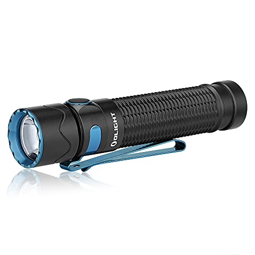 OLIGHT Warrior Mini 2 LED Linterna Táctica EDC Linterna Recargable Linterna Potente Brillante 5 Modos Linterna Multifuncional Sensor de Luz Incorporado 1750 Lúmenes Max. Perfecta para Aire Libre