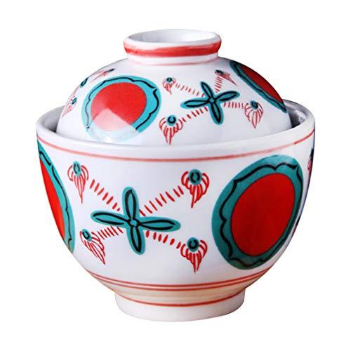 Cabilock Ciotola in stile giapponese Miso con coperchio per riso giapponese, in ceramica, con coperchio