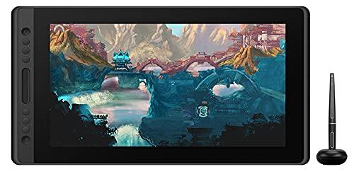 Xyfw Huion Kamvas Pro 16 Monitor De Tableta Gráfica De 15,6 Pulgadas Pantalla De Lápiz Sin Batería Monitor De Dibujo De Tableta Digital con Vidrio Inclinable AG