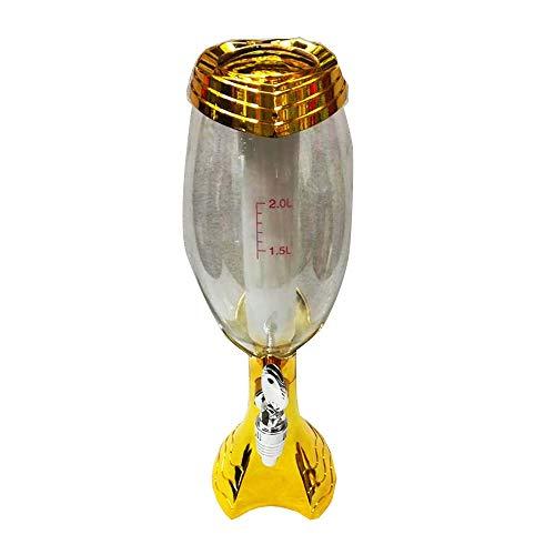 Y-home Bierhahn 4PCS 1.5L Leuchtende goldene Bier-Maschine mit Eiszapfen Bierturm Zufuhr-Bier-Getränkeautomaten für Zuhause (Farbe : Gold, Size : 17x12x45cm)