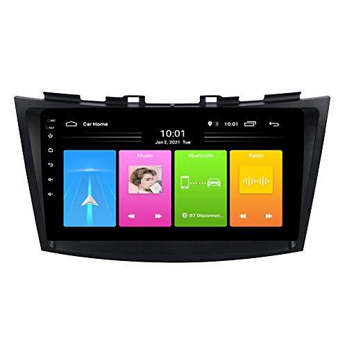 Kilcvt NavegacióN GPS De 9 Pulgadas Android 10 Reproductor De DVD para AutomóVil, para Suzuki Swift 2010-2016 Soporte Control del Volante/WiFi/Llamadas Manos Libres Bluetooth,WiFi: 2 32g