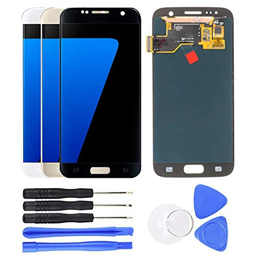 schicj133mm LCD OLED Full Touch Screen Digitizer Assembly Replacement for Samsung Galaxy S7 G930 G930F Black