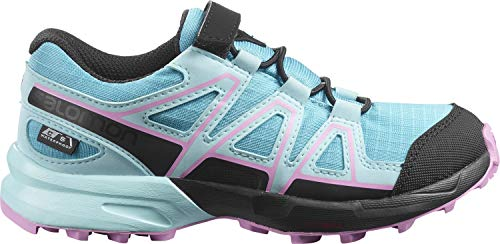 Salomon Speedcross CSWP J, Zapatillas Impermeables de Trail Running Unisex Niños, Azul claro (Scuba Blue/Tanager Turquoise/Orchid), 28