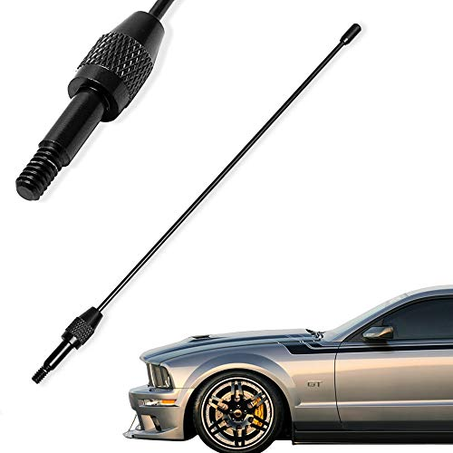KSaAuto Antenna Compatible with 1979-2009 Ford Mustang GT V6 | 8 Inches Premium Metal Antenna Mast Replacement | Designed for Optimized FM/AM Radio Reception