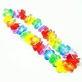 S/O - Lotto di 30 ghirlande hawaiane con fiori colorati, decorative...