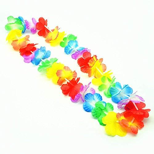 S/O - Lotto di 30 ghirlande hawaiane con fiori colorati, decorative