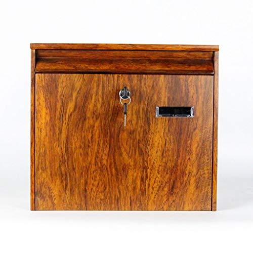 Buzones-AZBIFRT Elegance Caja de Correos Impermeable con Cerradura de Acero galvanizado montado en la Pared con Tarjetero Y0922