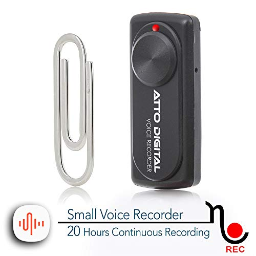 Small Voice Recorder with 20 Hours Battery Life | Ideal for Lectures, Meetings or Interviews | 141 Hours Capacity on 8GB | nanoREC by aTTo Digital