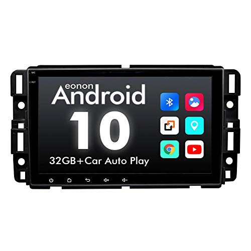 2020-Eonon Double Din Car Stereo, Eonon 8 Inch Android 10 Car Radio Compatible with Chevrolet/GMC/Buick, GPS Navigation Radio Support Split Screen/Built-in Apple Carplay/DSP-GA9480A