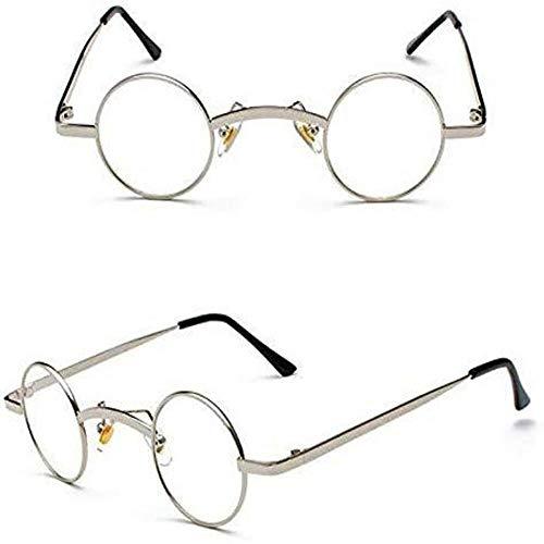 Tommy Shelby Brille The Peaky Blinders Serie 4 Gläser 35 mm kleine runde Gläser Vintage Silber klare Gläser WW1 WW2 1920er 30er 40er Brille