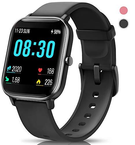 AIMIUVEI Smartwatch, Orologio Fitness Tracker Uomo Donna Activity Tracker Impermeabile Bluetooth Smart Watch Contapassi Cardiofrequenzimetro da Polso Pressione Sanguigna Smartband iOS Android