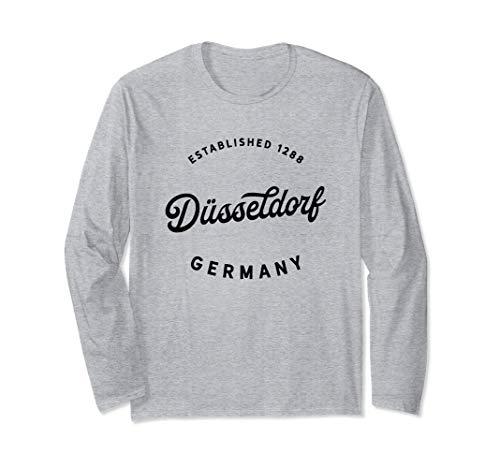 Düsseldorf Deutschland 1288 Geschenk Düsseldorf Germany Gift Langarmshirt