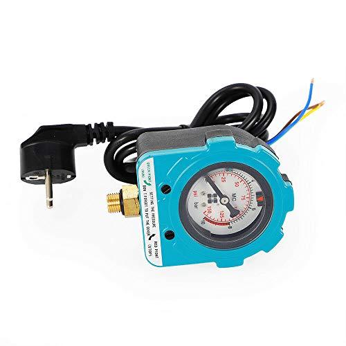 Berkalash Pumpenschalter, 10 Bar 220V Pumpe Druckschalter Pumpenschalter Druckregler Pumpen für Gartenpumpen, Tiefbrunnenpumpen, Hauswasserwerke