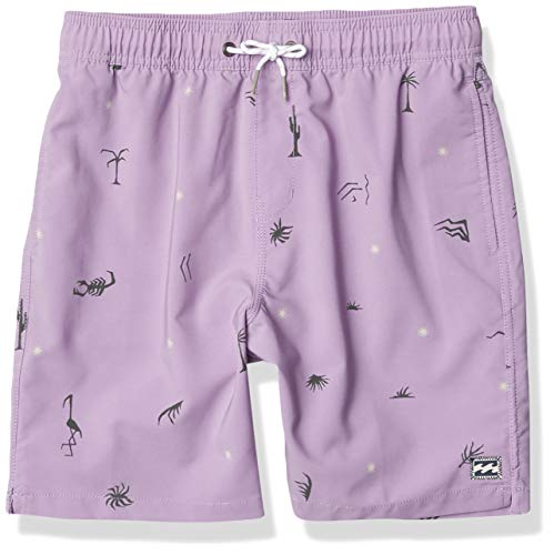 Billabong Boys' Sundays Layback Boardshort, Lavender, M