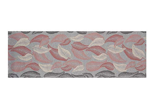 BIANCHERIAWEB Tappeto Passatoia in Tessuto Jacquard Linea Emozioni Disegno Liberty Rosa 57x140 Rosa