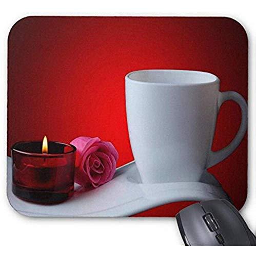 Mousepad Goede Morgen Koffie Beker Met Kaars Licht Print Muis Mat