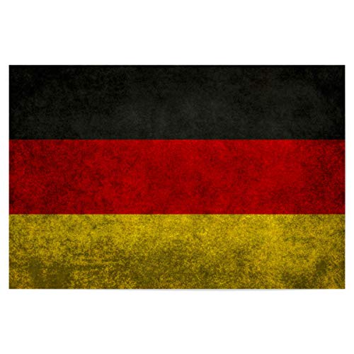 artboxONE Poster 30x20 cm Reise Flag of Germany hochwertiger Design Kunstdruck - Bild Deutschland Fahne Flagge