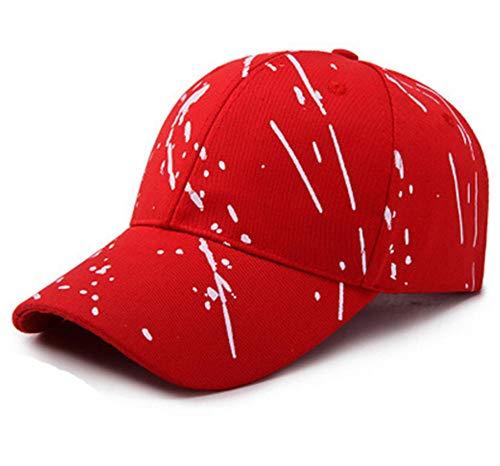 Kuletieas Gorras De Hombre Gorra de béisbol de Moda Femenina Ajustable Sombreros Verano Mujer Deporte Gorras para Correr Ropa de Golf Hombres Sombreros de sombrilla Sombrero de Mujer Rojo