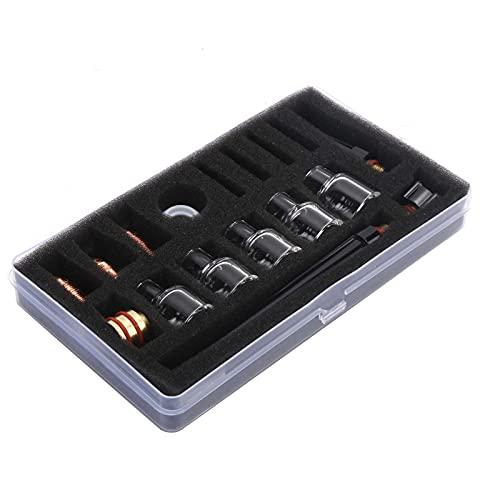 Kit de accesorios de antorcha de soldadura, consumibles de antorcha Kit de abrazadera de tungsteno de soldadura de copa de vidrio para herramienta eléctrica WP9 / 20