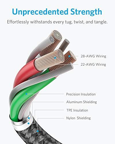 Anker iPhone Ladekabel, Lightning Kabel [MFi-Zertifiziert] 1M iPhone Kabel für iPhone XR iPhone 7, iPhone X, iPhone 8, iPhone 6s iPhone 6, iPhone 7, iPhone XS/XS MAX/8 Plus, iPad (Schwarz)