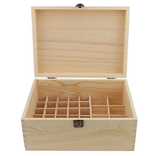 Weikeya Holz Ätherisches Öl Aufbewahrungsbox, Heim Duft Träger Schutzhülle, für 38 Flaschen für Aromatherapie Nagellack Ordner Behälter, Halten Sie Ihre Öle Sicher Raum Sicherer